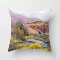 Ruby Mountain Throw Pillow