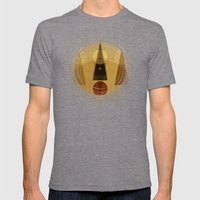 Geometric/Abstract 5 Mens Fitted Tee Tri-Grey SMALL