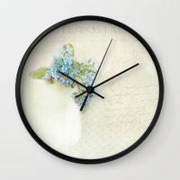 vintage greeting  Wall Clock