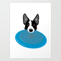 Border Collie - Disc Dog… Art Print