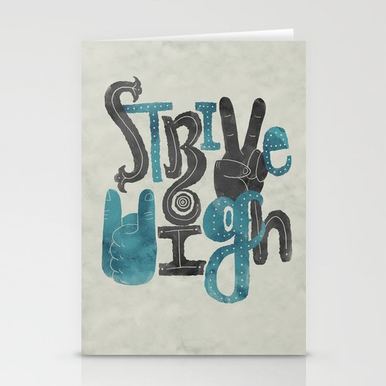 Strive High Stationery Card