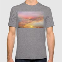 Sunrise & Sunset Mens Fitted Tee Tri-Grey SMALL