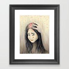 Unwashed hair Framed Art Print