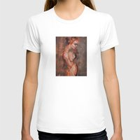 Fade Womens Fitted Tee White SMALL