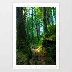 Green Pathway Art Print