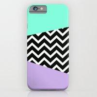 Tiffany Mint Lavender Chevron iPhone case iPhone 6 Slim Case