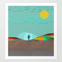 Spacewalker Art Print