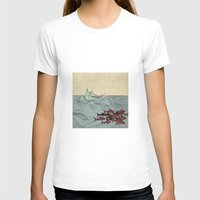 Paper Cranes Womens Fitted Tee White SMALL
