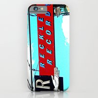 iPhone & iPod Case featuring Reckless Records ~ chicago sign by helene smith photography