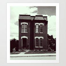 She's A Brick House (b&w) Art Print