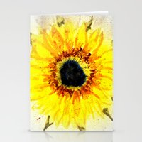 Sunflower from Water Stationery Cards