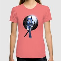 Blue Bird Womens Fitted Tee Pomegranate SMALL