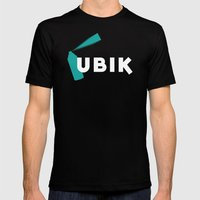 Ubik by Philip K Dick Mens Fitted Tee Black SMALL