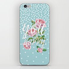 You are my happy- Watercolor illustration & Typography iPhone & iPod Skin