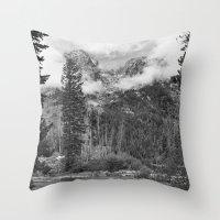 Birch Hallow, Teton Moun… Throw Pillow