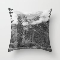Birch Hallow, Teton Moun… Throw Pillow