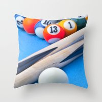 Gaming Table Throw Pillow