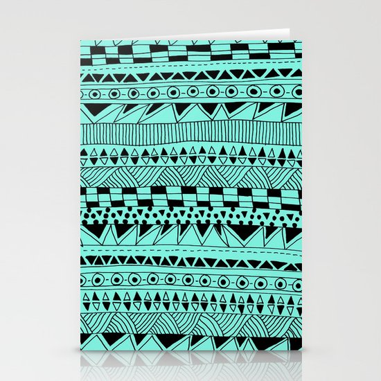 Fun - Black and Mint Stationery Card