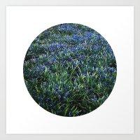 Planetary Bodies - Blue … Art Print