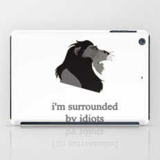 scar surrounded by idiots iPad Case