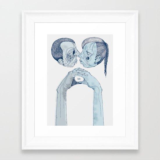 'Us & Them' Framed Art Print