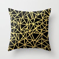 Abstract Outline Thick G… Throw Pillow