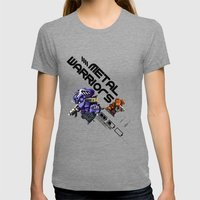 Metal Warriors Womens Fitted Tee Tri-Grey SMALL
