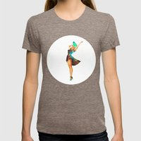 Cosmic Pinup # 2 Womens Fitted Tee Tri-Coffee SMALL