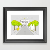 Why Did The Chicken Cros… Framed Art Print