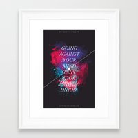 Going Against Your Mind Framed Art Print