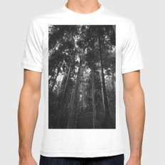 Ascending White SMALL Mens Fitted Tee