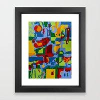 Geometric Garden Framed Art Print