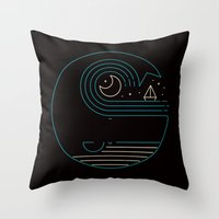 Moonlight Companions Throw Pillow