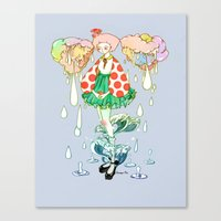 Watery Canvas Print