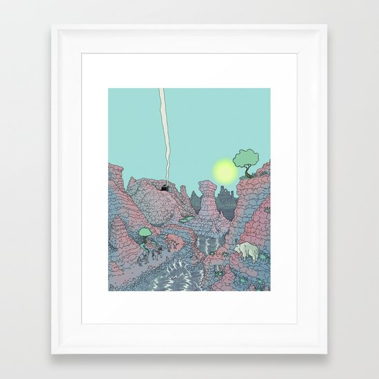 There be Dragons Framed Art Print