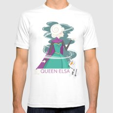 QUEEN ELSA Mens Fitted Tee SMALL White