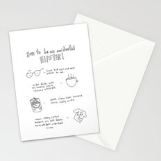 How to be an accidental hipster Stationery Cards