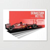 Sebastian Vettel - 2015 Hungaroring Canvas Print