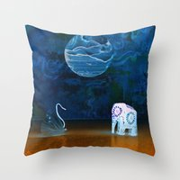 Earth Meeting Sky - On F… Throw Pillow
