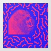Lion Time Canvas Print