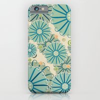 iPhone & iPod Case featuring Retro Crazy Flowers by Susan Weller