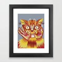 Cat Signs Whiskers Framed Art Print