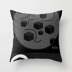 Pandemic - Black Throw Pillow