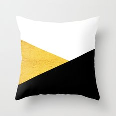 Gold & Black Geometry Throw Pillow