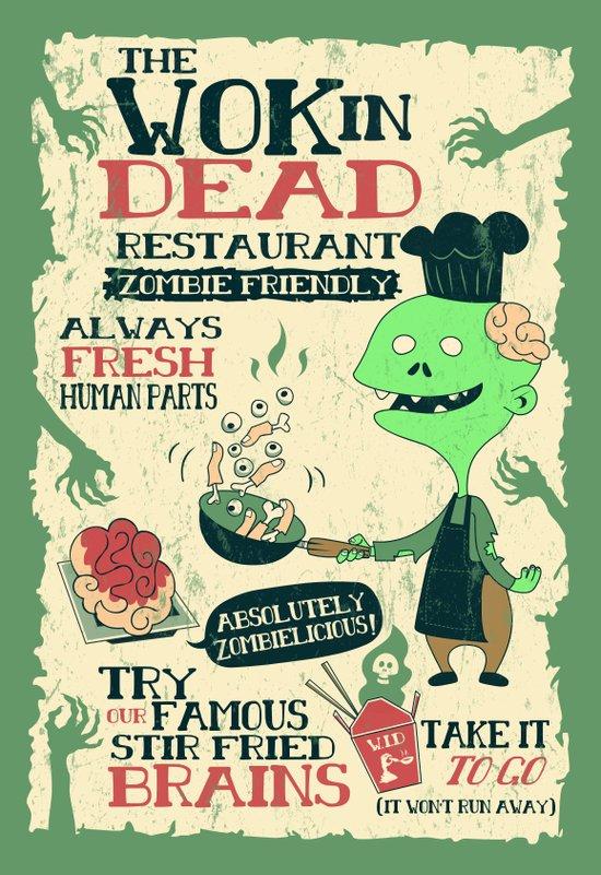 The Wok In Dead Art Print