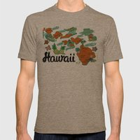 HAWAII Mens Fitted Tee Tri-Coffee SMALL