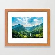 Landscape - Green Mounta… Framed Art Print