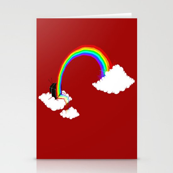 Rainbow TV Stationery Card