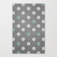 Concrete & PolkaDots Canvas Print