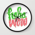 HAHA WOW Wall Clock